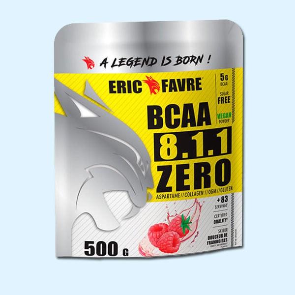 BCAA 8.1.1 ZERO 500 G – ERIC FAVRE - protéine Sousse SOBITAS protein.tn