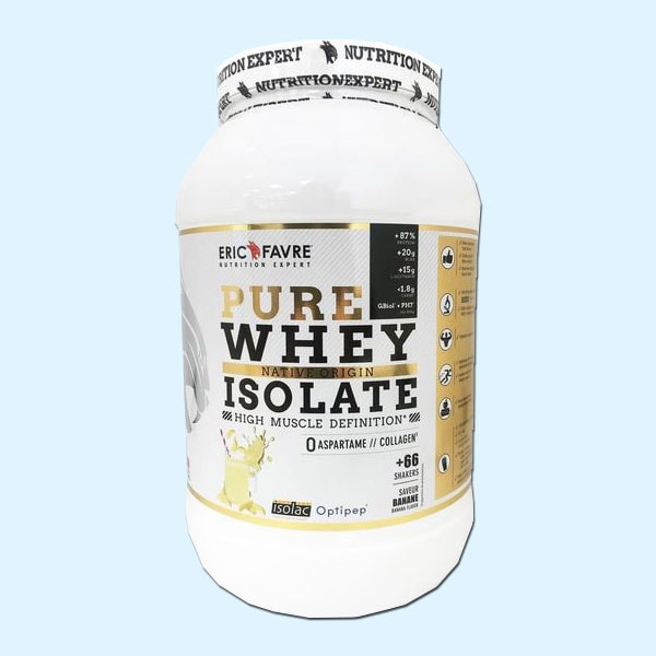 PURE WHEY NATIVE ORIGIN ISOLATE 2 kg – ERIC FAVRE - Compléments alimentaires nutrition protein Tunisie - PURE WHEY NATIVE ORIGIN ISOLATE 2 kg – ERIC FAVRE