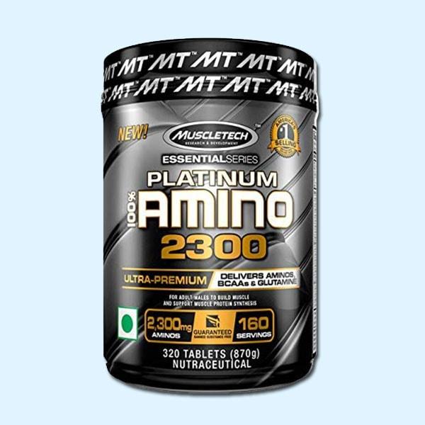 PLATINUM 100% AMINO 2300 320 TABLETS - MUSCLETECH - protéine Sousse SOBITAS protein.tn