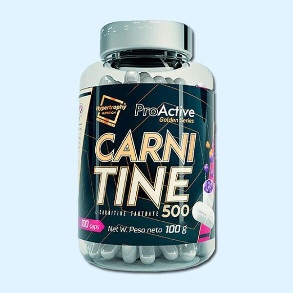 L-CARNITINE TARTRATE 500mg 100 CAPS - PROACTIVE - protéine tunisie sobitas