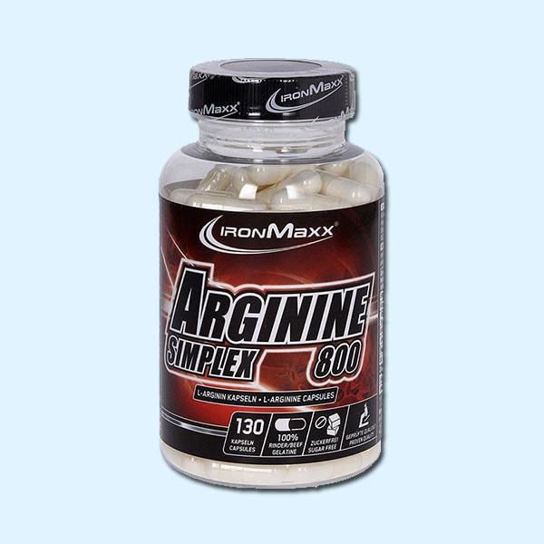 ARGININE SIMPLEX 800 130 Caps – IRONMAXX - protéine Sousse SOBITAS protein.tn