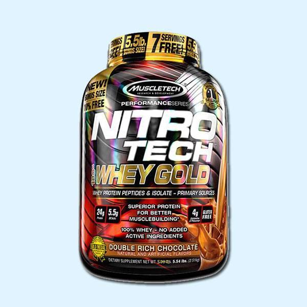 NITRO TECH WHEY GOLD WHEY GOLD 2,51 KG – MUSCLETECH - protéine tunisie sobitas