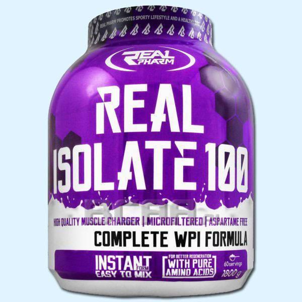 REAL ISOLATE 100 1.8KG - REAL PHARM - protéine Tunisie SBITAS protein.tn